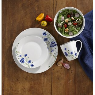 Bosse 16 Piece Dinnerware Set Service for 4 & Fine China You\u0027ll Love   Wayfair