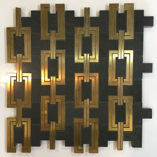 Waterjet 12 x 12 Marble Novelty Mosaic Wall & Floor Tile