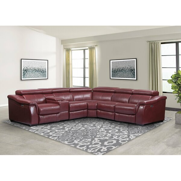 Weathersby 110.5-inch Symmetrical Reclining Sectional By Canora Grey