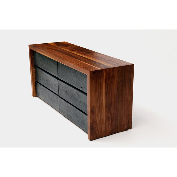 SQR 6 Drawer Double Dresser by ARTLESS