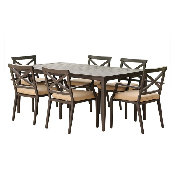 Fran Aluminum Dining Table by Gracie Oaks