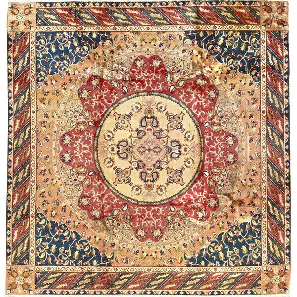 One-of-a-Kind Maharaja Handwoven Wool Beige/Red Indoor Area Rug by Bokara Rug Co., Inc.