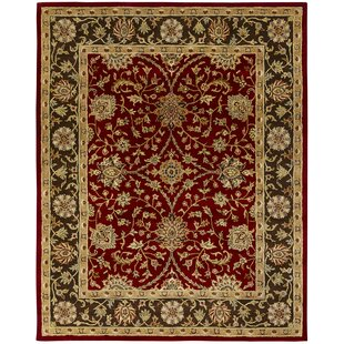 Bir Hand-Woven Red Area Rug by Meridian Rugmakers