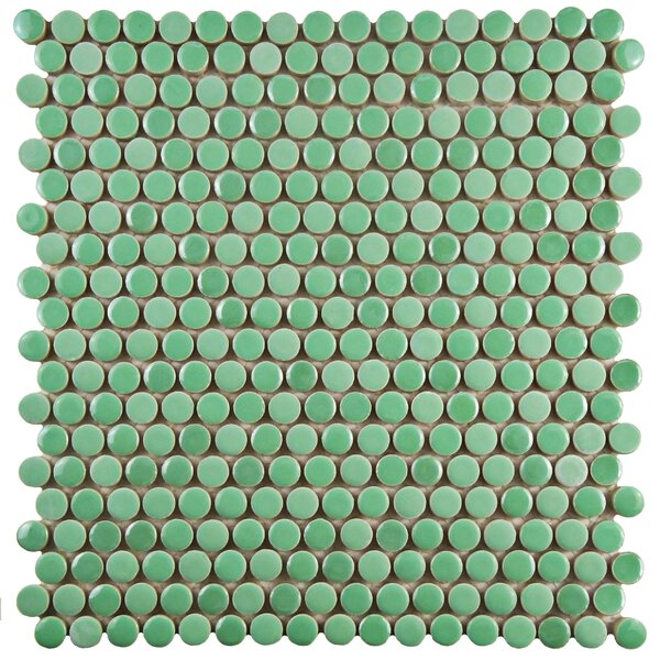 Tucana 0.59 x 0.59 Porcelain Mosaic Tile in Green by EliteTile