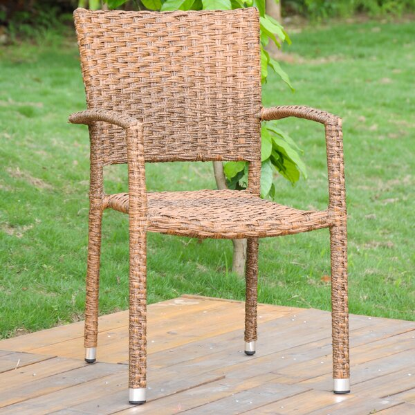 Stanek Stacking Patio Dining Chair by Gracie Oaks