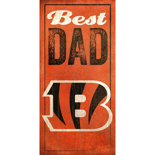 NFL Best Dad Graphic Art Plaque by Fan Creations