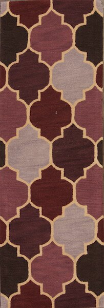 One-of-a-Kind Dominique Agra Oriental Hand-Tufted Wool Red/Burgundy Area Rug by Rosdorf Park