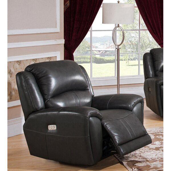 Gutierez Leather Power Recliner [Red Barrel Studio]