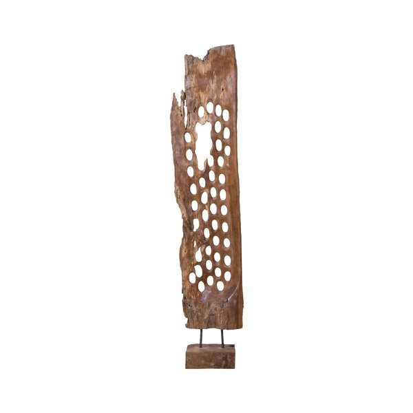 Bricelyn Teak Screen Sculpture by Foundry Select