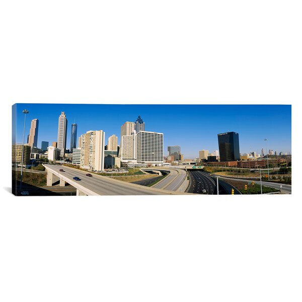 Panoramic Skyscrapers in a City, Cityscape, Atlanta, Georgia Photographic Print on Canvas by iCanvas