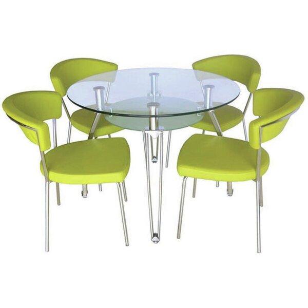 Satterwhite Glass Dining Table By Orren Ellis