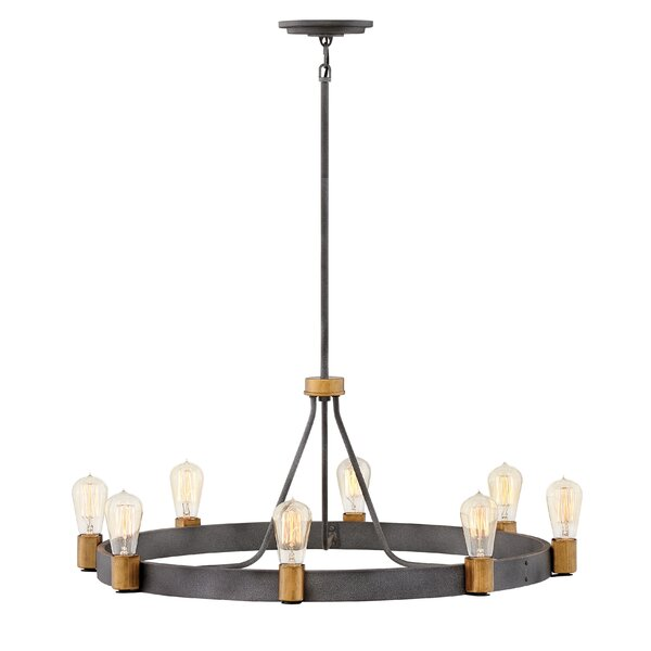 Ansorge 8-Light Candle Style Wagon Wheel Chandelier By Williston Forge