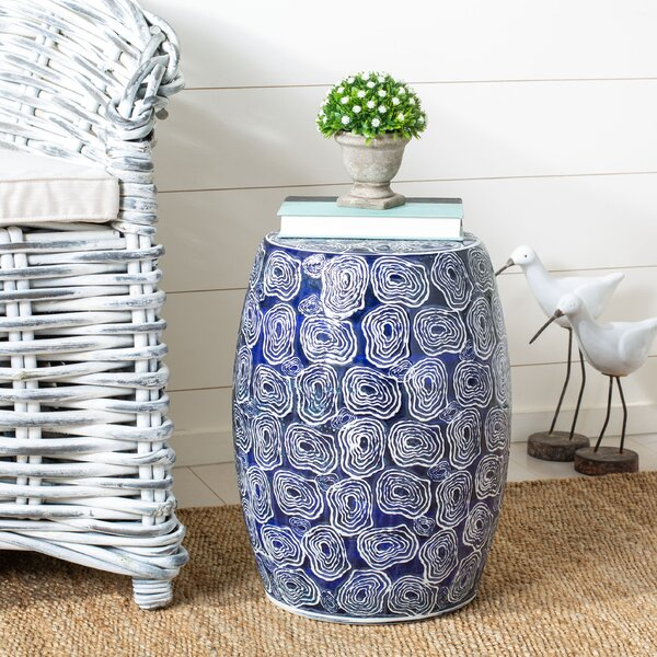 Chattanooga Ceramic Garden Stool by Rosecliff Heights