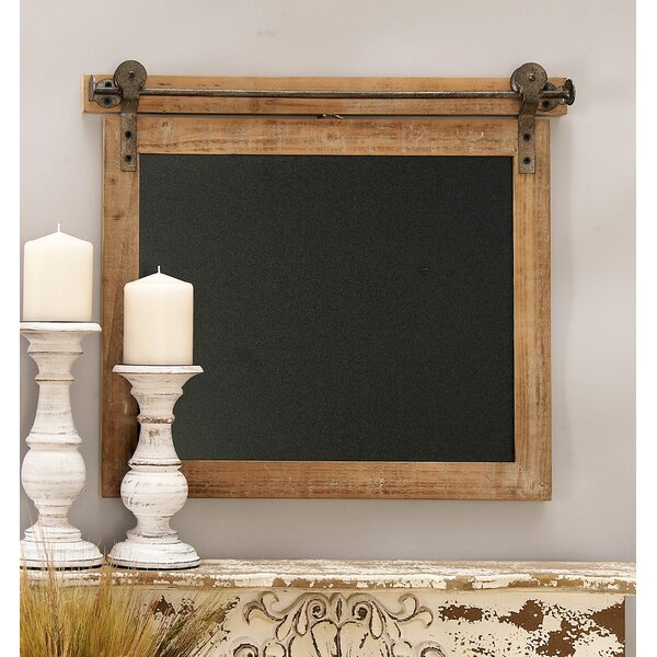 Wood/Metal Wall Mounted Chalkboard by Cole & Grey