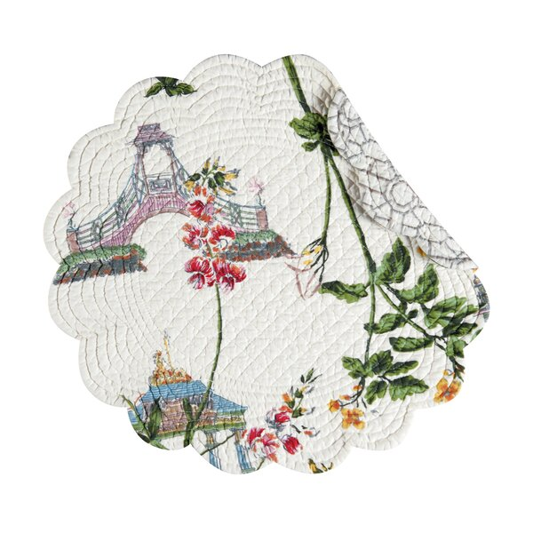Garden Folly Reversible Round Quilt Placemat (Set of 6) by C&F Home
