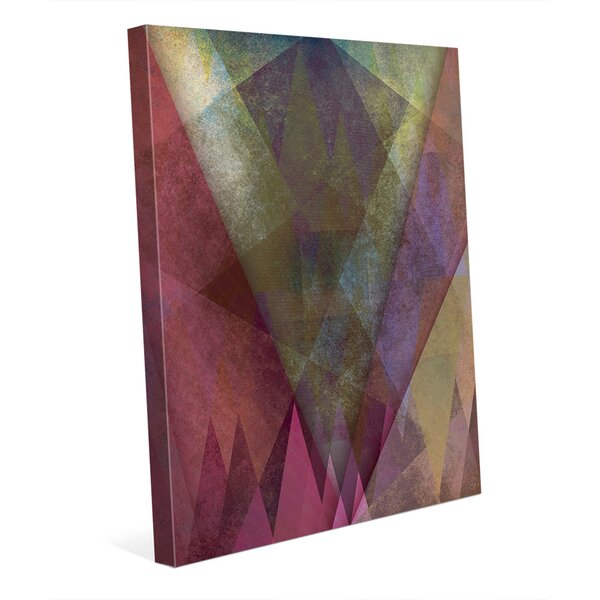 Jagged Towering Cerise Firs Graphic Art on Wrapped Canvas by Click Wall Art