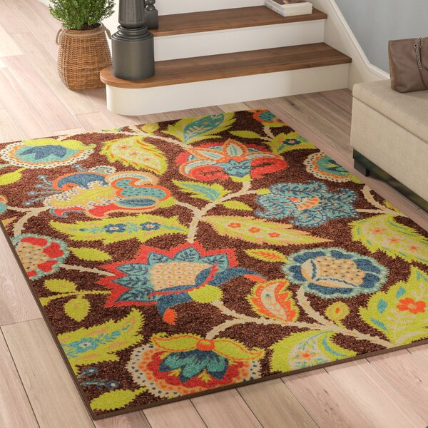 Gilson Brown Indoor/Outdoor Area Rug by Andover Mills