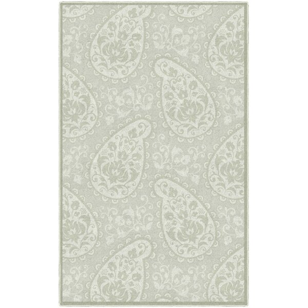 Cragmont Paisley and Pastel Floral Beige Area Rug by Ophelia & Co.