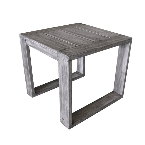Asther Modern Teak Side Table by Longshore Tides