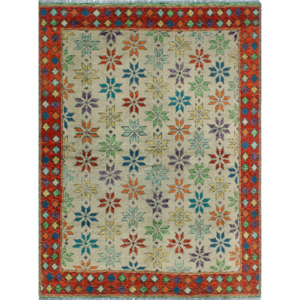 One-of-a-Kind Millender Najja Hand-Knotted Wool Beige Are Rug by Bloomsbury Market