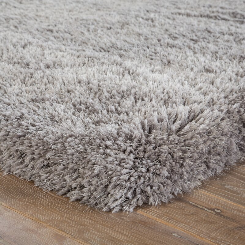 Orion Shag And Flokati Light Gray Area Rug Amp Reviews