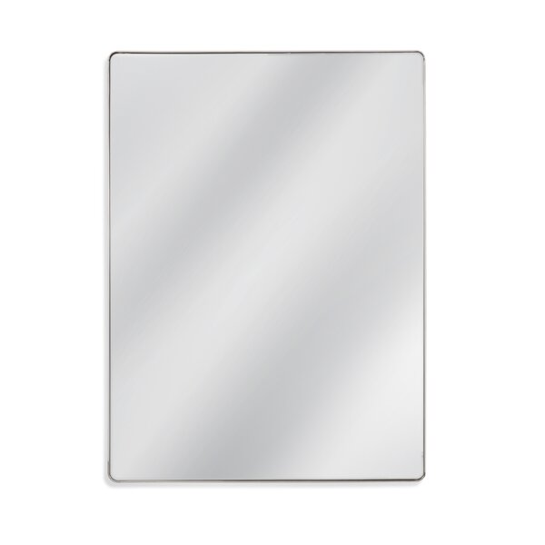 Rectangle Chrome Wall Mirror by Latitude Run