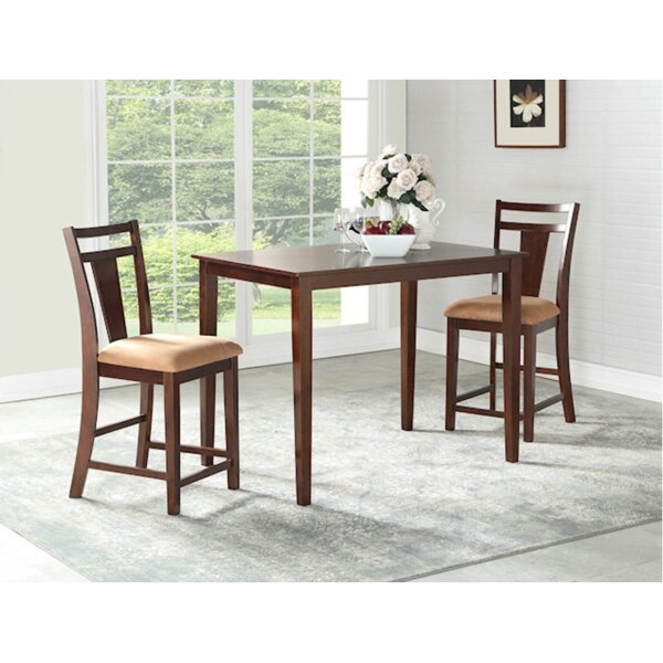 Flossmoor 3 Piece Pub Table Set by Charlton Home