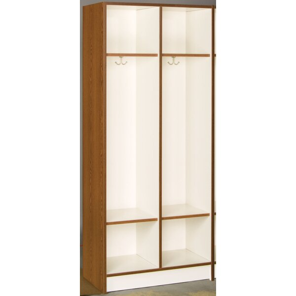 3 Tier 2 Wide Coat Locker by Stevens ID Systems
