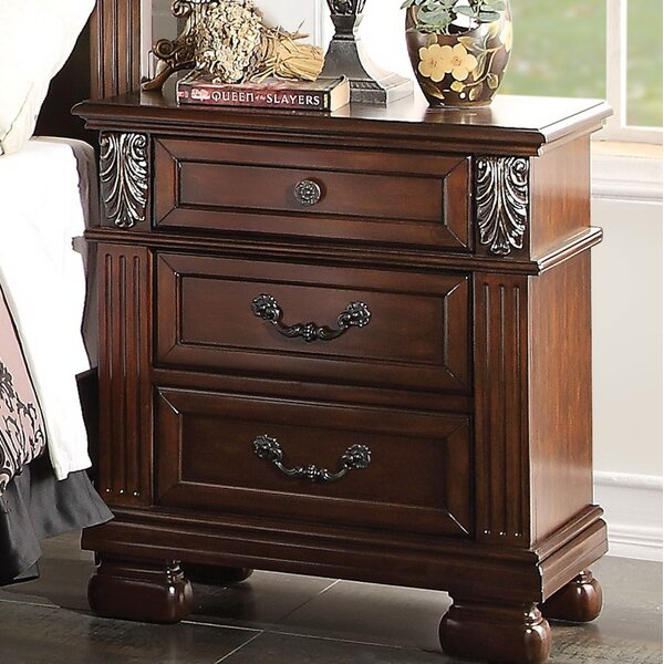 Rowland 3 Drawer Nightstand by Fleur De Lis Living