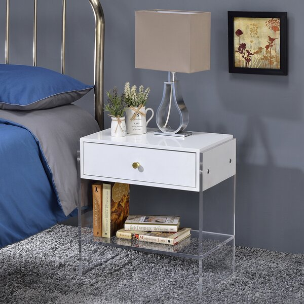 Modern End Table by Fox Hill Trading