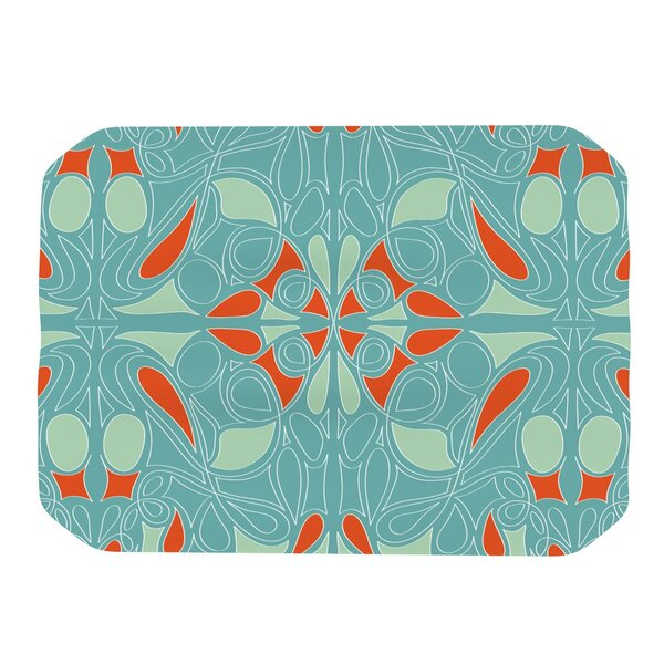 Seafoam and Orange Placemat by KESS InHouse