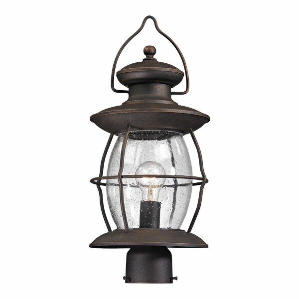 Crick 1 Light Outdoor Post Lantern by Breakwater Bay