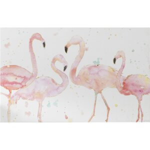 'Flamingo Fever I' Painting Print on Canvas by Mercury Row