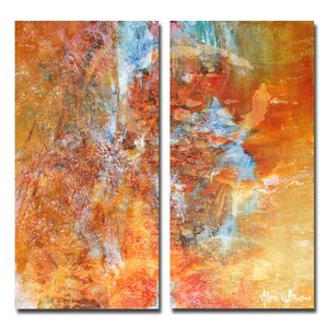 Oversized Abstract 2-Piece Print of Painting on Canvas Set by Ready2hangart