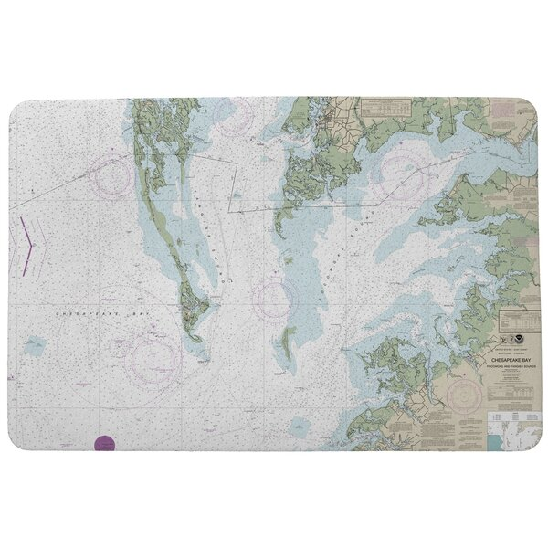 Chesapeake Bay - Pocomoke and Tangier Sounds VA Doormat by East Urban Home