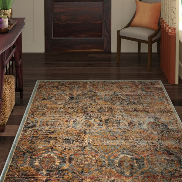 Anders Blue/Orange Area Rug by World Menagerie
