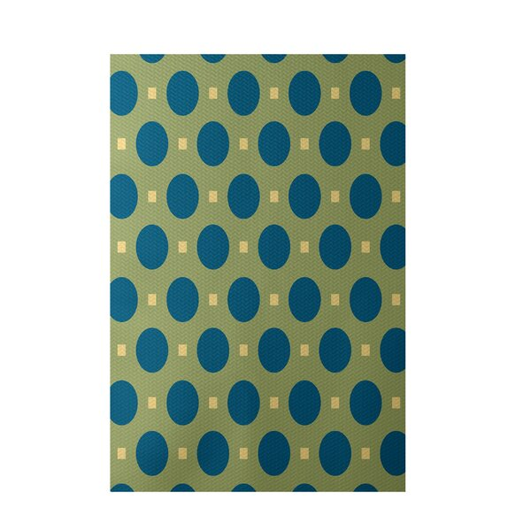 Geometric Green Indoor/Outdoor Area Rug by e by design