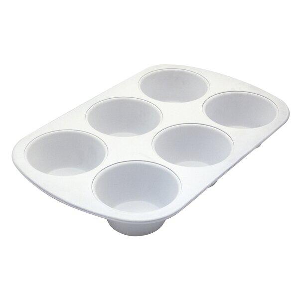 Cerama Bake 6 Cup Jumbo Muffin Pan by Range Kleen