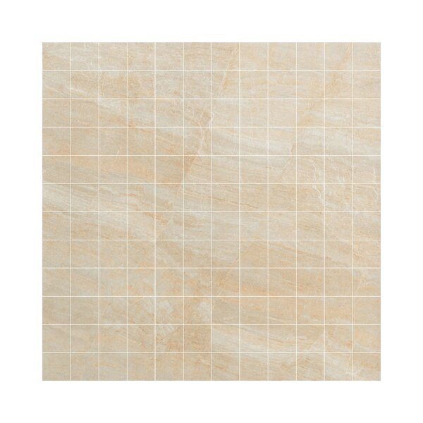 Anthology Porcelain Mosaic Tile in Glazed Beige by Samson