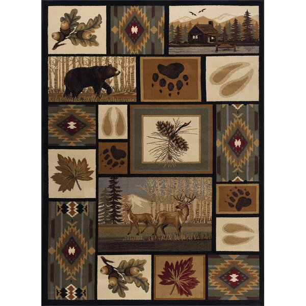 Haddam Brown/Beige Area Rug by Threadbind