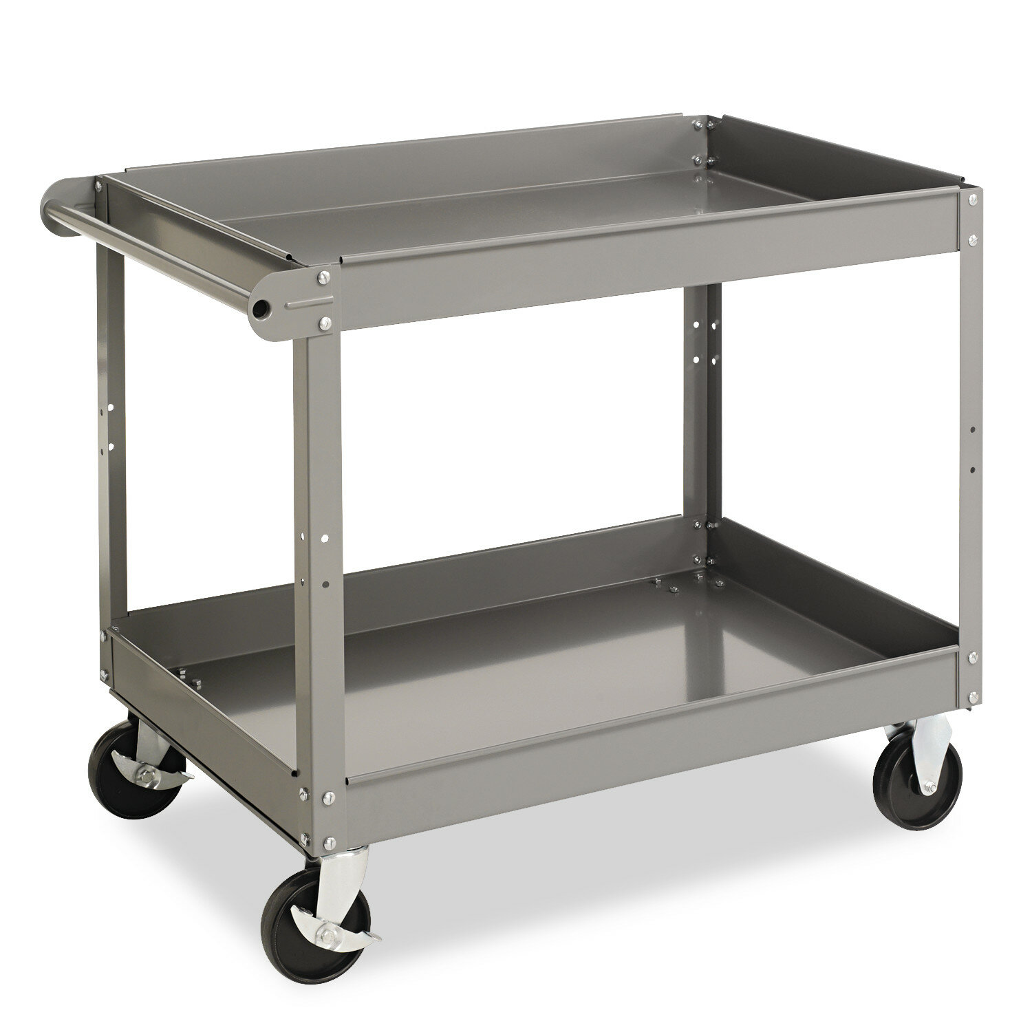 Tennsco Two Shelf Metal Utility Cart Reviews Wayfair