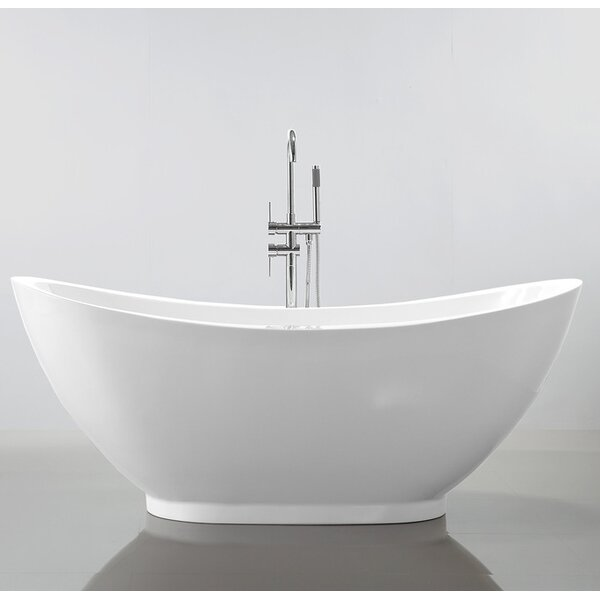 HelixBath Ephesus 69 x 33.5 Soaking Bathtub by Kardiel