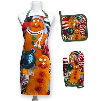 Gingerbread Cookies 3 Piece Apron Set by The Holiday Aisle