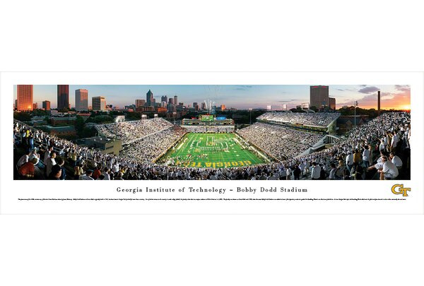 NCAA Georgia Tech by James Blakeway Photographic Print by Blakeway Worldwide Panoramas, Inc