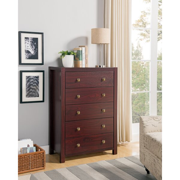 Maksim 5 Drawer Chest by Latitude Run