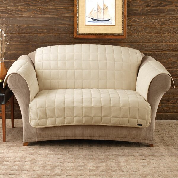Deluxe Comfort Box Cushion Sofa Slipcover by Sure
