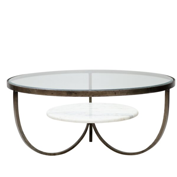 Hinman Iron, Glass and Marble Trio Coffee Table by Latitude Run