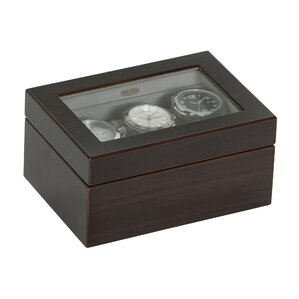 Granby Glass Top Wooden Watch Box by Mele & Co.