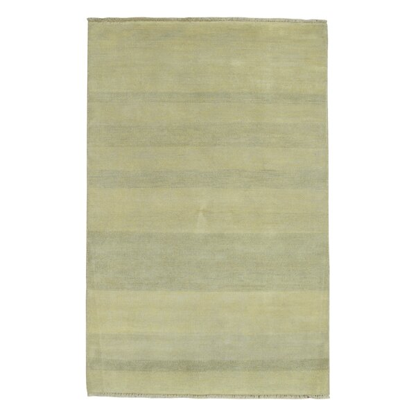 One-of-a-Kind Beale Hand-Woven Wool Beige Area Rug by Isabelline