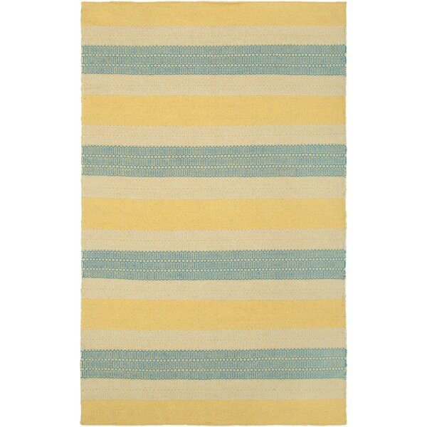 Hand-Woven Gold Area Rug by The Conestoga Trading Co.